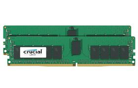 Crucial 2x16GB 2400Mhz DDR4 CL17 DR x8 ECC Registered DIMM 288pin