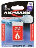 ANSMANN 1 Lithium 9V-Block for Smoke Detector
