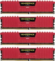 16GB (4-KIT) DDR4 3200Mhz Vengeance LPX Red