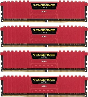 Corsair 64GB (4-KIT) DDR4 3333Mhz Vengeance LPX Red