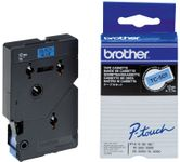 Tape Brother 12mm BLACK ON BLUE TAPE