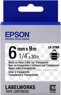 EPSON TAPE - LK2TBN CLEAR BLK/ CLEAR 6/9 SUPL (C53S652004)