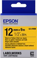 EPSON TAPE - LK4YBW STRNG ADH BLK/ YELL 12/9 (C53S654014)