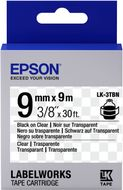 EPSON TAPE - LK3TBN CLEAR BLK/ CLEAR 9/9 SUPL (C53S653004)