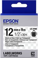 EPSON TAPE - LK4TBN CLEAR BLK/ CLEAR 12/9 SUPL (C53S654012)