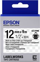 EPSON TAPE - LK4TBN CLEAR BLK/ CLEAR 12/9 (C53S654012)