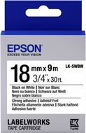 EPSON TAPE - LK5WBW STRNG ADH BLK/ WHT 18/9 SUPL (C53S655012)