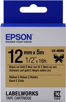 EPSON TAPE - LK4KBK RIBBON BLK/ GOLD 12/5 (C53S654001)