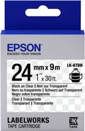 EPSON TAPE - LK6TBN CLEAR BLK/ CLEAR 24/9 SUPL (C53S656007)