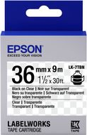 EPSON TAPE - LK7TBN CLEAR BLK/ CLEAR 36/9 SUPL (C53S657007)