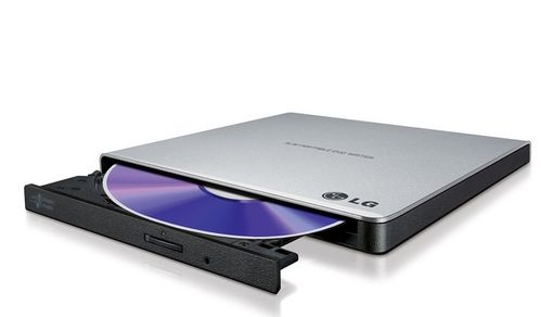 LG DVD+-R/ RW/ DL/ RAM RETAIL SILVER 8X/ 8X/ 24X/ 8X/ 6X/ 24X SLIM USB 2.0 IN EXT (GP57ES40)