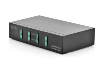 USB KVM SWITCH 4-PORT W/ AUDIO SUPPORT W/O CABLES      IN PERP