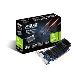 ASUS GeForce GT 730 2GB DDR5 D-Sub/ DVI/ HDMI Heatsink Low Profile (with LP-bracket) (GT730-SL-2GD5-BRK)