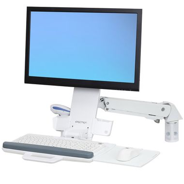 STYLEVIEW SIT-STAND COMBO ARM BRIGHT WHITE TEXTURE CRTS
