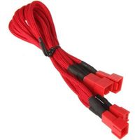 3-Pin zu 3x 3-Pin Adapter 60cm - sleeved red/red