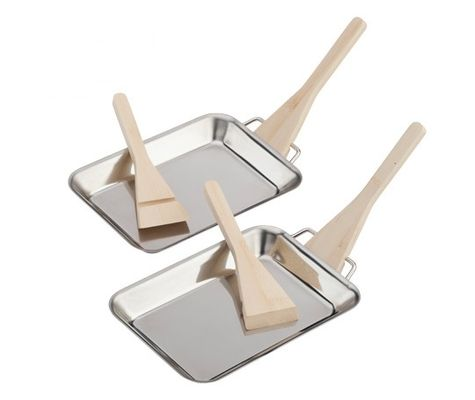Barbecue Grill Pans 2-Pack Stainless Steel