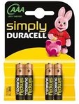 DURACELL Batterie Duracell SIMPLY -AAA (MN2400/ LR03)             4St.