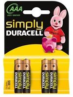 DURACELL Batterie SIMPLY -AAA (MN2400/ LR03) 4St. (002432)