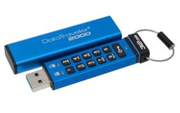 KINGSTON 32GB Keypad USB3.0 DT2000 256bit AES Hardware Encrypted