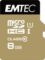 SD MicroSD Card 8GB SDHC CL.10 inkl. Adapter Gold