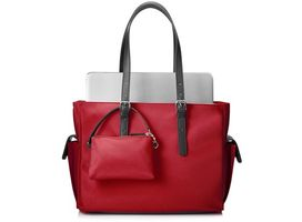 Ladies Slm Red Tote
