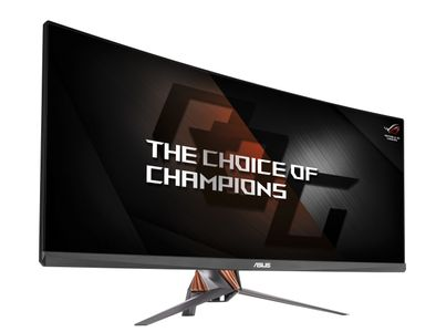 ASUS PG348Q 34inch IPS 3440 x 1440 Speakers DisplayPort HDMI USDB3.0 300cd/m2 10bit 5ms 100Hz HAS Swivel G-Sync Curved (PG348Q)