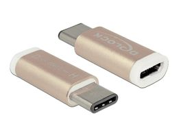 USB-adapter USB 2_0 Micro-B female (host) _ USB Type-C 2_0 male (device) copper