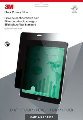 Easy-On Privacy Filter Tabletfor Apple iPad Air 1 / Air 2 - portrait