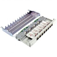 Patchpanel 0.5 HE 8-Port Cat6a geschirmt grau