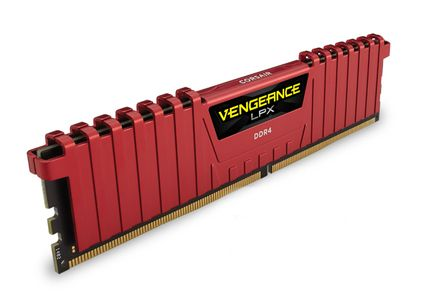 CORSAIR V LPX 16GB DDR4 Red 2x288, 3600MHz (CMK16GX4M2B3600C18R)