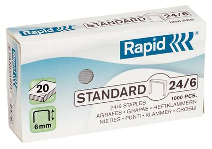 RAPID staples Standard 24/6 Galvanized Box of 1000 (24855600*20)