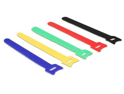 DELOCK Hook-and-loop fasteners coloured L 150 x W 12 mm 10 pieces (18634)