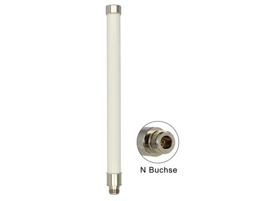 WLAN Antenna 802.11 ac/ a/ h/ b/ g/ n 6 ~ 8 dBi 280 mm omnidirectional pole mounting fixed white o