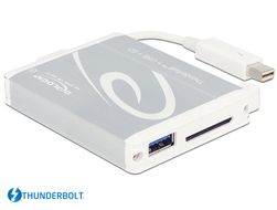DELOCK Thunderbolt™ Adapter > 1 x USB 3.0 Type-A female + SD UHS-II Card Reader (91723)