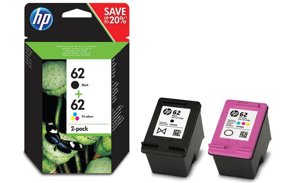 No62 black & color ink cartridges (sampack),  blister