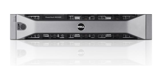 PowerVault MD3400 Chassis 12 x 3_5_ Bezel Dual 4G Cache Redundant 600W 3YNBD
