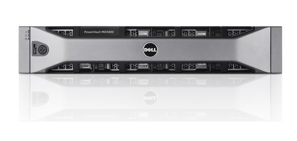 Dell PowerVault MD3400 Chassis 12 x 3_5_ Bezel 12x600GB Bezel 12GbDualController Redundant 600W 3YNB