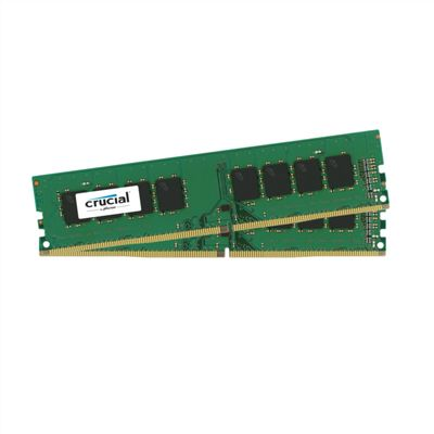 DDR4 2400MHz 16GB KIT 8GBx2,  PC4-19200,  CL17, SR x8, Unbuffered DIMM 288pin Single Ranked