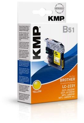 B51 ink cartridge yellow compatible with Brother LC-223 Y