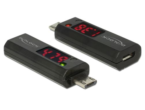 Delock Micro USB Adapter with LED indicator for Voltage and Ampere
