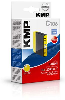 C106 ink cartridge yellow compatible w.  Canon PGI-2500 XL