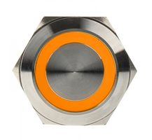 DIMASTECH Vandalismustaster 25mm - Silverline - orange (PD065)