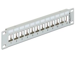 DELOCK 10? Keystone Patch Panel 12 Port metal grå (43327)