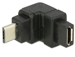 Adapter USB2 Micro-B male 90 grader vinkel