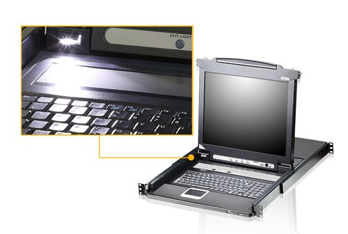 "ATEN 8 Port 17"" LCD KVMP Switch (CL5708M-ATA-2XK06DNG)"