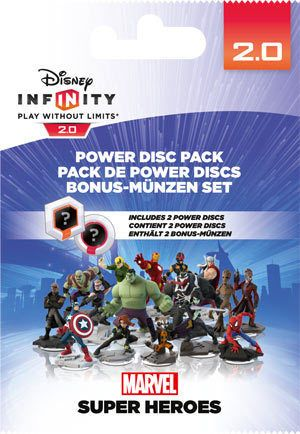 Infinity Power Disc - Marvel - 2-pack Fungerer med 360, PS3, Wii, 3DS, Wii U
