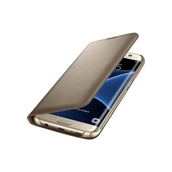 LED View Galaxy S7 Edge Gold