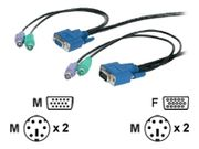 NEWSTAR 6FT. 2 Mts. PS/ 2-style 3-in-1 HQ KVM Switch Cable ULTRA THIN