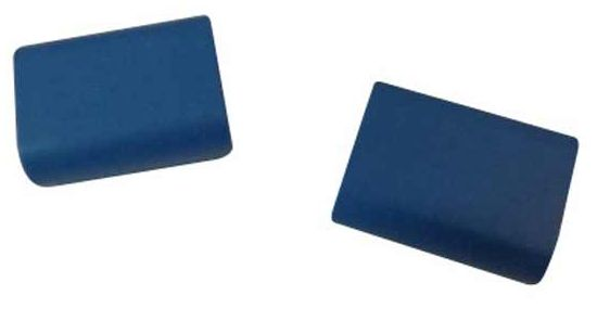 Cover LCD Hinge Cap Left Blue