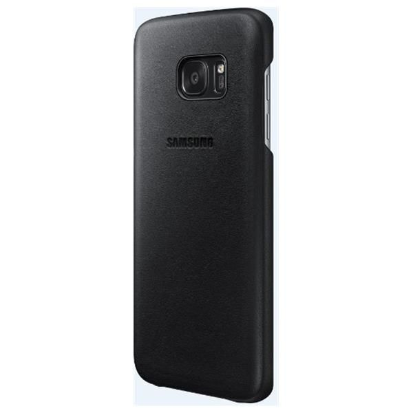 Leather Cover S7 Edge Black